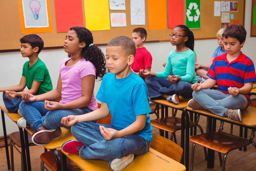 Teach yoga and mindfulness to young people