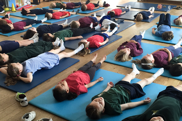 Healthy Living Week yoga mindfulness workshops in school for children and young people