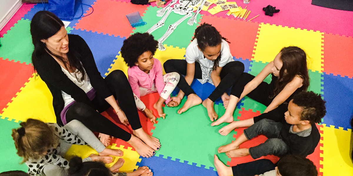 Yogabeez teach yoga and mindfulness to children and young people