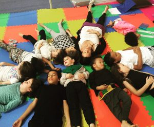 YogaBeez Savasana at the Om Yoga Show 2015