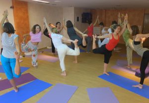 YogaBeez Partner dancer pose - Advanced Yoga Training, Athens