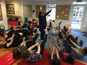 YogaBeez yoga and mindfulness INSET training in Nursery School, UK