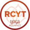 YogaBeez is a Yoga Alliance Registered Children's Yoga Teacher (RCYT) - RCYT logo