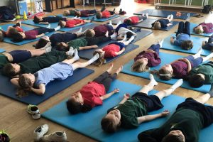 YogaBeez children and young people workshops in schools for Healthy Living Week