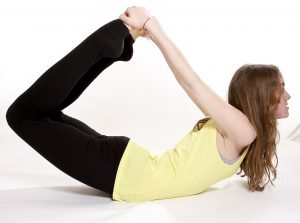 Children's yoga - bow pose