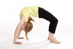 Children's Yoga - the wheel pose